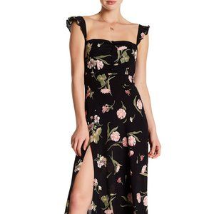 Flynn Skye Bardot Maxi Black Floral XS